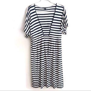 Banana Republic | Square Neck Low Cut Stripe Dress